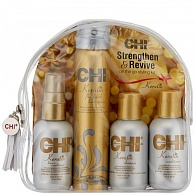 CHI Keratin Strengthen & Revive Kit дорожный набор